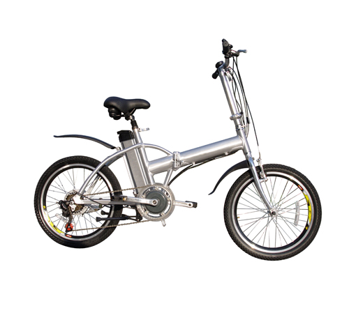 Foldable electric bicycle with aluminum alloy frame and lithium battery